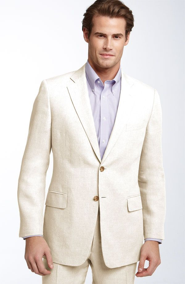 Mens white linen suit Nordstrom.