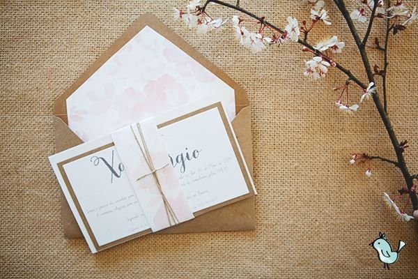 Romantic weeding invitation by Maria Pipa