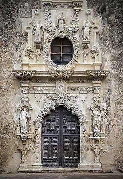 margadirube:  crescentmoon06: Main Door, Mission San Jose, San Antonio, Texas