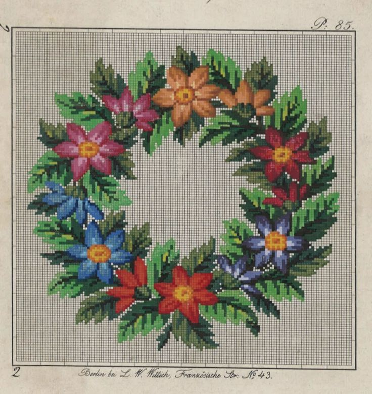 An Absolutely Beautiful Floral Wreath Produced By L W Wittich Berlin