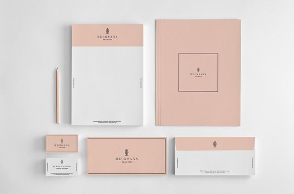 Stylish stationery set by Graphicsegg on @creativemarket