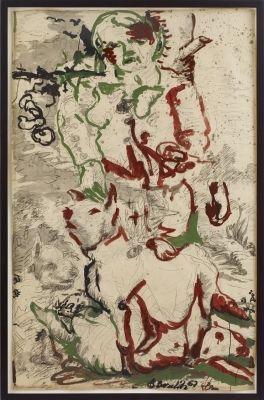 Georg Baselitz, Two Stripes The Hunter (Zwei Streifen der Jäger) on ArtStack #georg-baselitz #art
