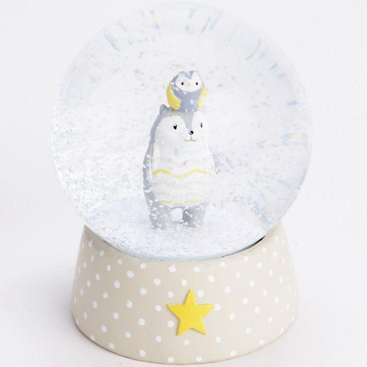 boule neige hiboux co amadeus boule neige classique berceau magique snow globe. Black Bedroom Furniture Sets. Home Design Ideas