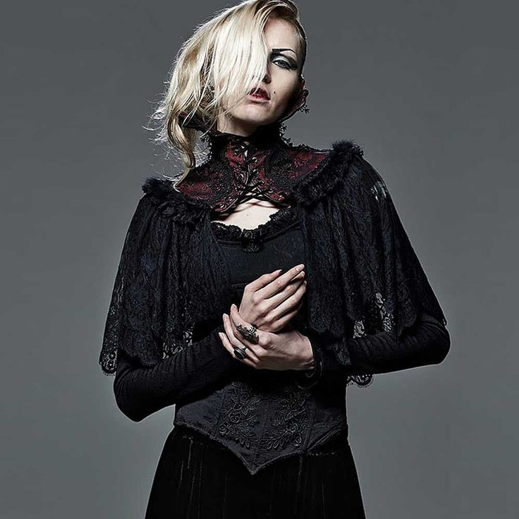 Ventrue lace cape with croset detail and