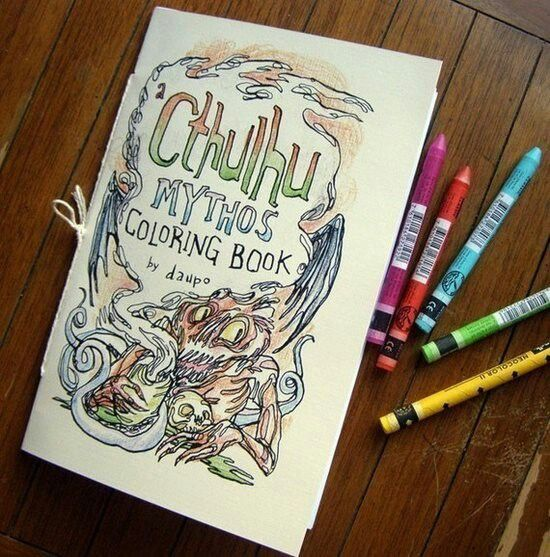 A Cthulhu Mythos Coloring Book By MonstersDomesticated On Etsy