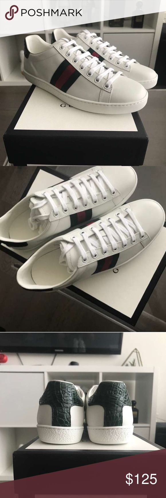 Gucci SnakeSkin Ace Sneakers i Have sizes 6-13 Available!  Please Text me at (708) 971-2376 to see if i still have your size in stock or for more pictures Before purchase ! 100% authentic  comes with Box , Dustbags , Receipts And Carebooks price is Negotiable! Serious Inquires only! Gucci Shoes Sneakers