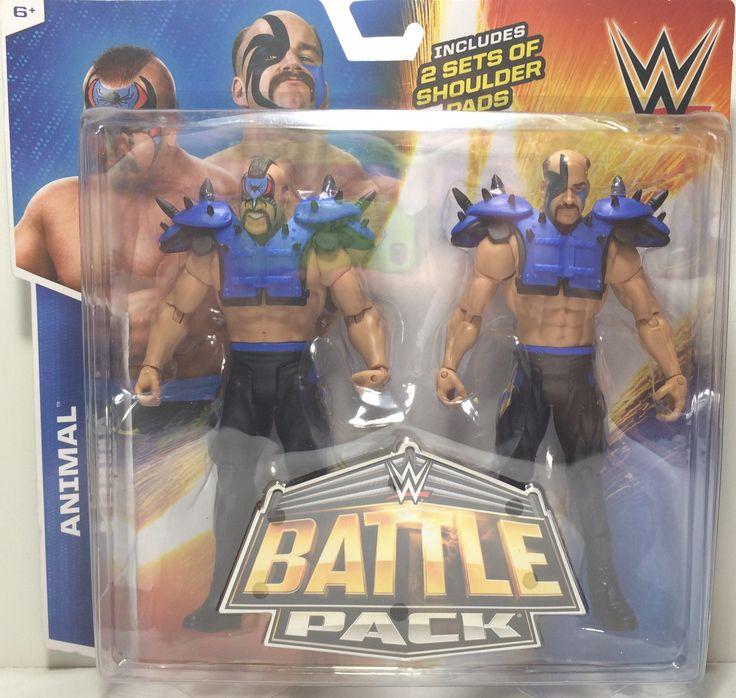 (TAS031814) - 2015 Hasbro WWF WWE LOD Wrestling Battle Pack - Animal & Hawk