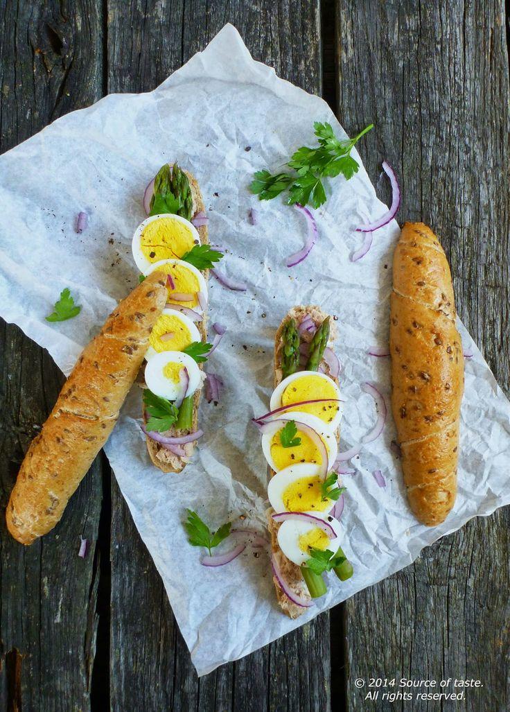 Asparagus Eggs and Tuna Sandwich