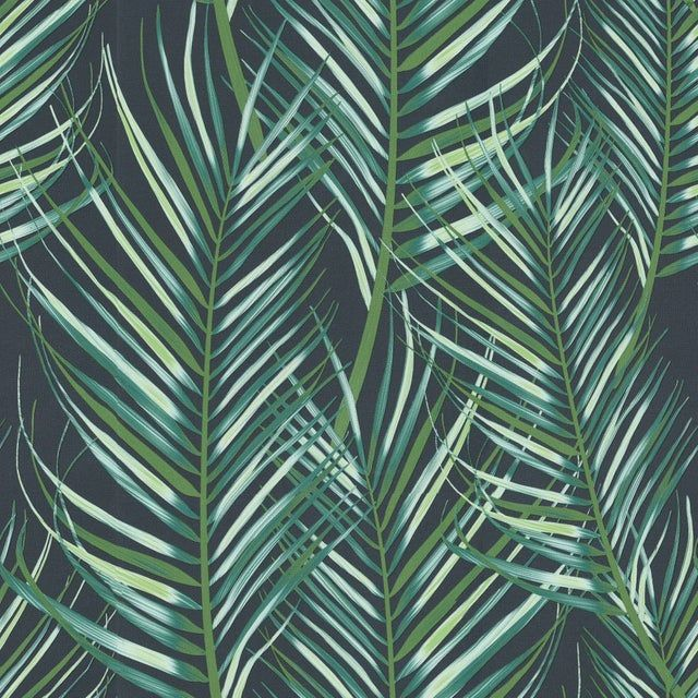Papier Peint Vinyle Tropical Feuilles Vert Graham Brown En