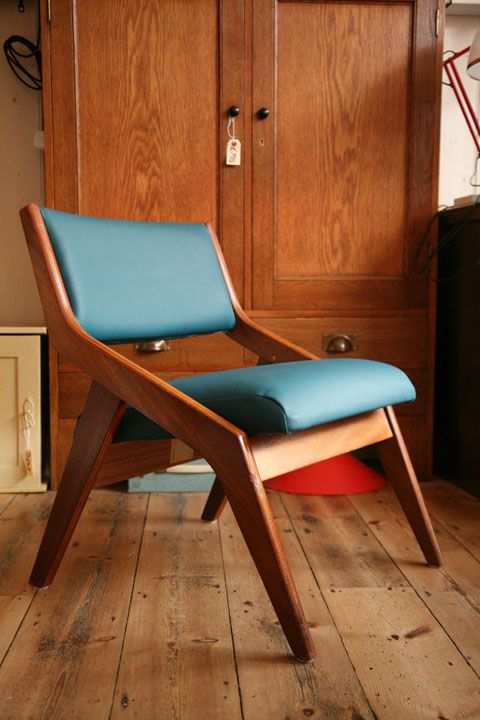 Neil Morris Walnut Veneered Plywood Chair For Morris Of