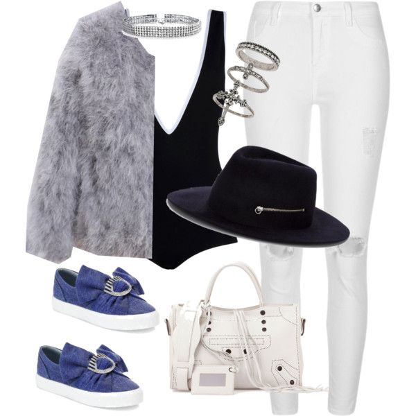 A fashion look from February 2017 featuring River Island jeans, Chiara Ferragni sneakers and Balenciaga tote bags. Browse and shop related looks.