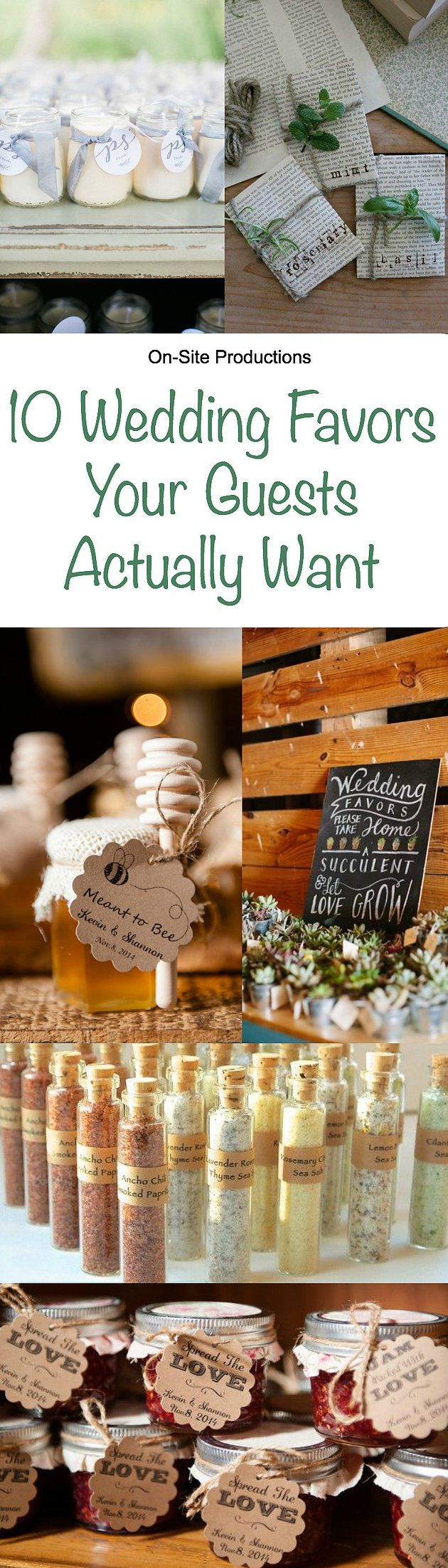 10 wedding favor ideas to thank your guests for coming that  your guests actually want!  These are adorable ideas, and mostly DIY projects that wouldn't cost that much!