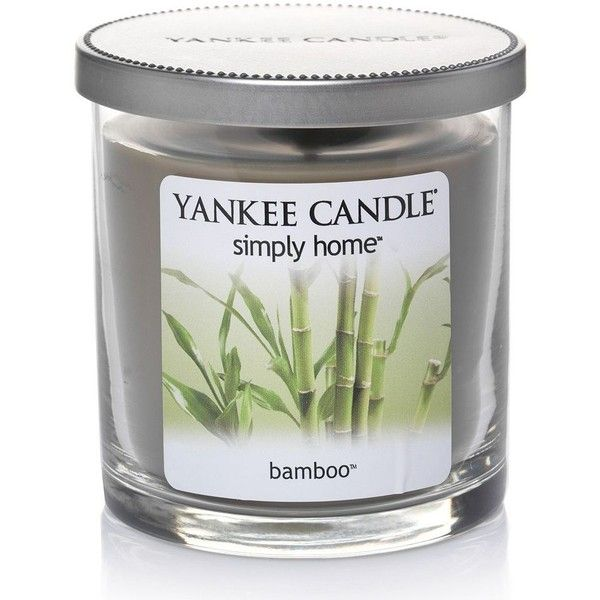Yankee candle simply home bamboo 7 oz jar candle green 16