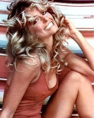 Farrah Fawcett, a famous poster of her in a one-piece bathing suit sold over 12 million copies, so yeah she was hot!