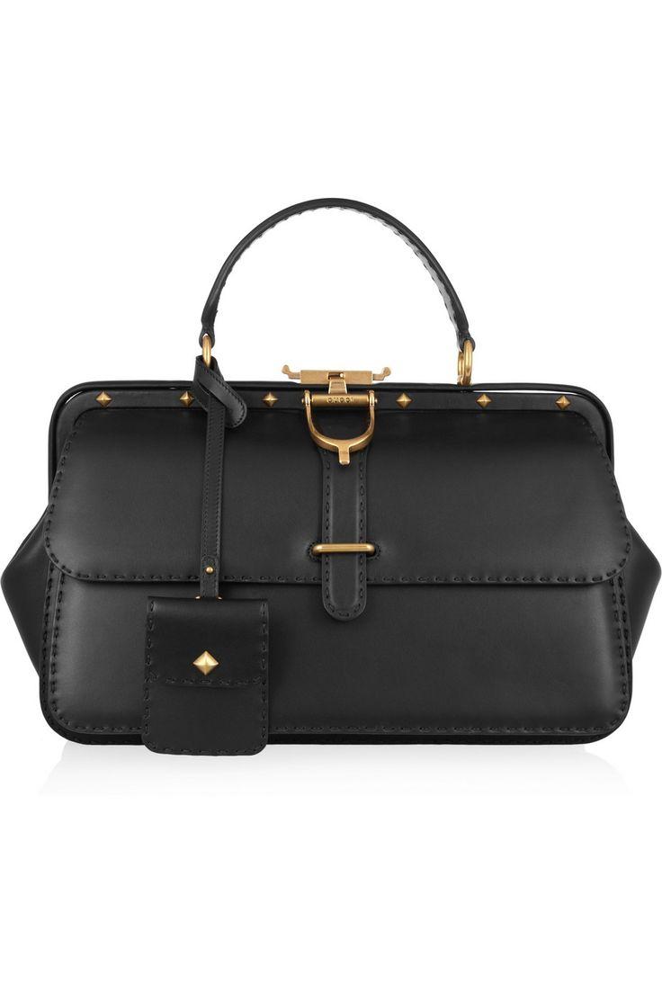 Gucci Lady Stirrup studded leather bag