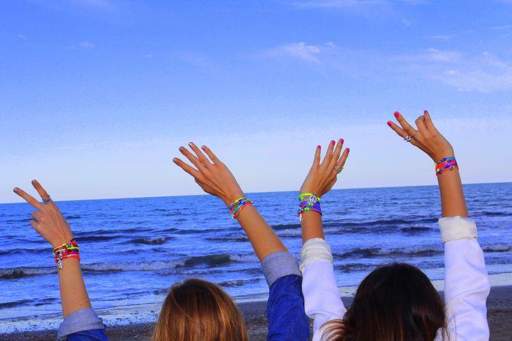 Fluorine Summer Collection by Milú  www.milubracelets.com  #handame  #bracelets #milubracelets #colorful #fluorine   #pulseras #friends #fluor #amigas #sky