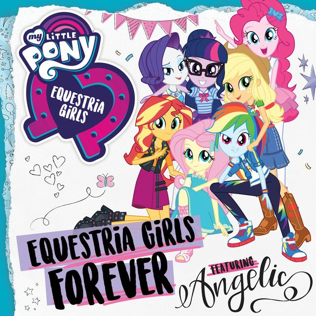 #1588991 - album, album cover, applejack, equestria girls, equestria girls forever, equestria girls forever (feat. angelic), fluttershy, humane five, humane seven, humane six, pinkie pie, rainbow dash, rarity, safe, song, spoiler:eqg series, sunset shimmer, theme song, twilight sparkle - Derpibooru - My Little Pony: Friendship is Magic Imageboard