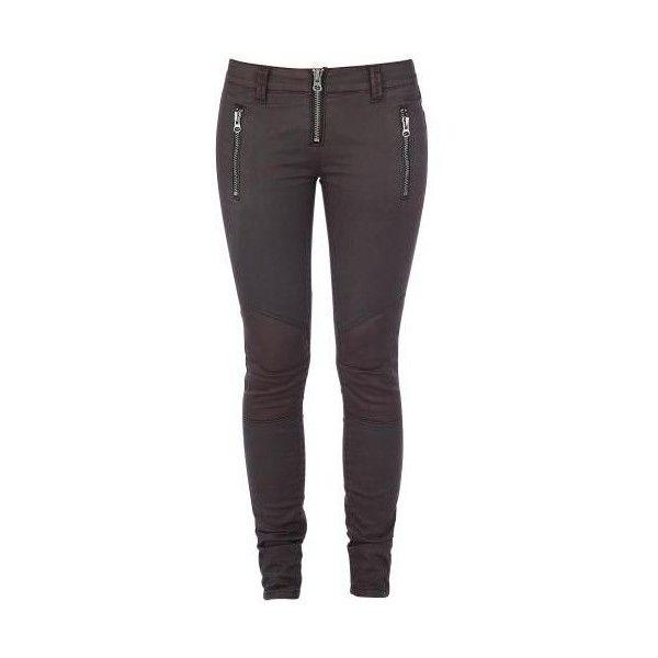 Biker Pants (60 AUD) ❤ liked on Polyvore featuring pants, skinny trousers, purple pants, skinny pants, low rise pants and purple skinny pants
