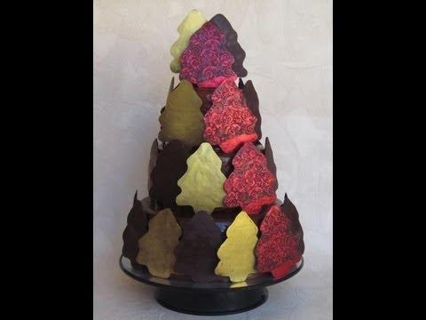Torta Capodanno con cioccolato plastico e pasta di zucchero al cioccolato
