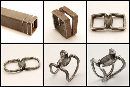 Donzella Ring in progress | Iron ring forged from a square t… | Flickr