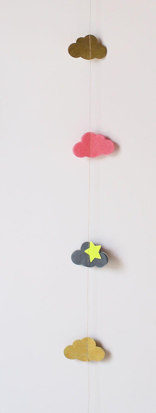 Petite guirlande en papier de soie à faire avec les enfants !