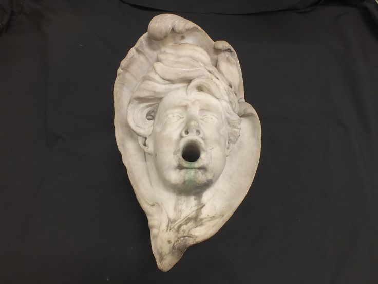 White marble genoese mask   17th century baroque period