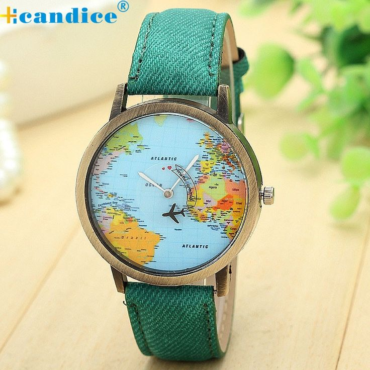 1.00$ (More info here: http://www.daitingtoday.com/reloj-women-dress-watches-2017-global-travel-by-plane-map-denim-fabric-band-watch-women-7colors-wholesale-lsin-sep9 ) reloj  Women Dress Watches 2017 Global Travel By Plane Map Denim Fabric Band Watch Women 7Colors wholesale  #LSIN  Sep9 for just 1.00$