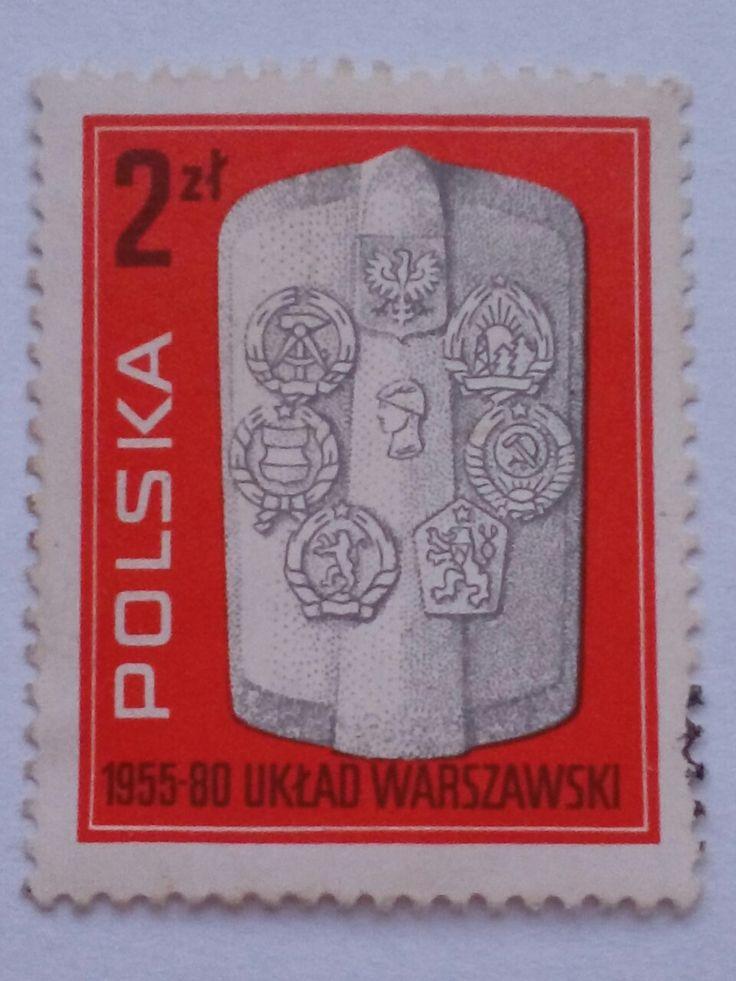 "Stamp 1980 ""Warsaw Pact"", Poland"