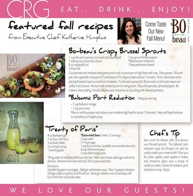 BO-beau Kitchen + Bar Recipe - crispy brussels sprouts - pancetta + parmesan + balsamic