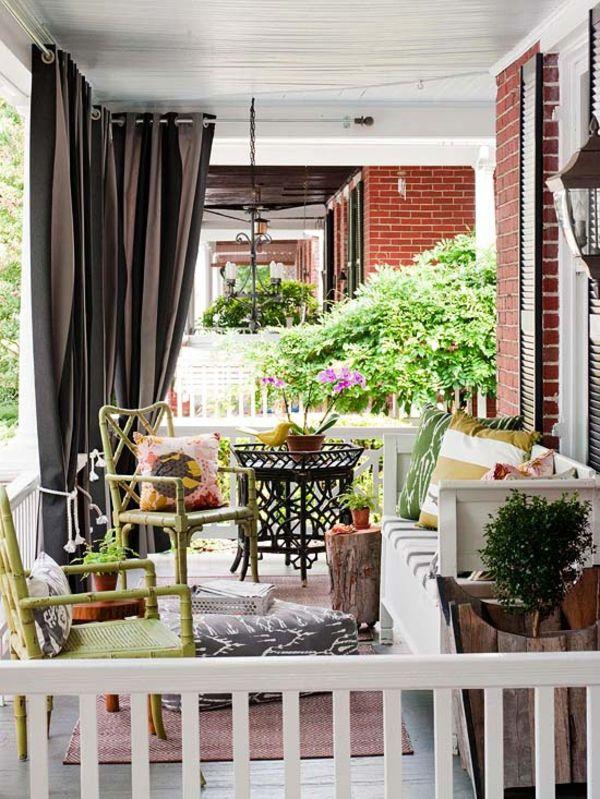 Die besten 25+ Außenbereich Vorhänge für Terrasse Ideen auf - ideen terrasse outdoor mobeln