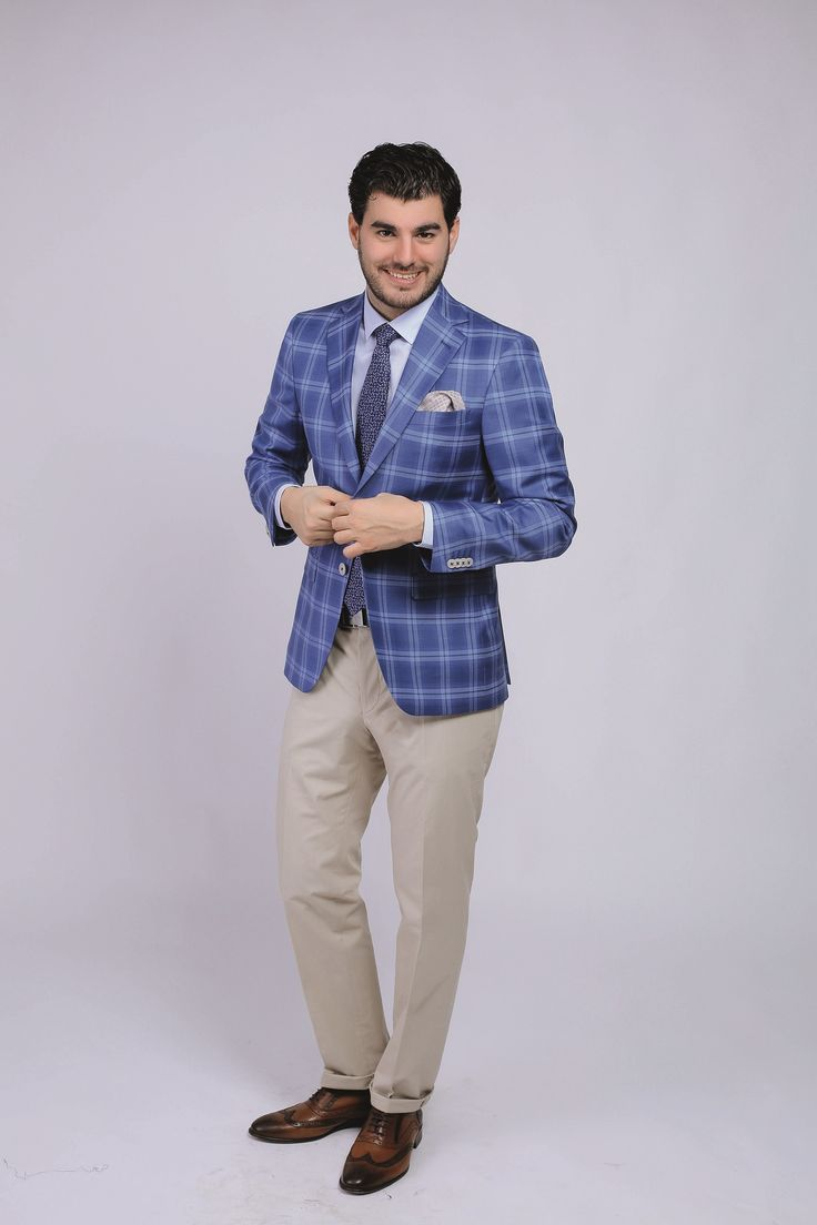 Same jacket + a pair of cotton trousers = smart-casual