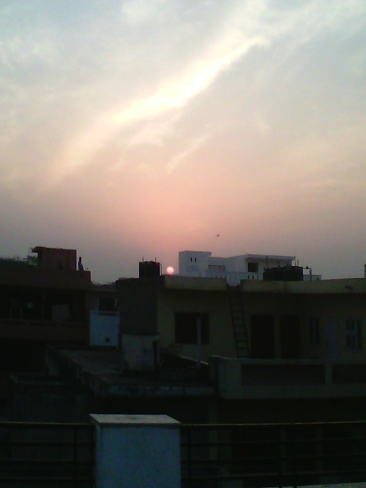Sun Set @Sector Global 14 Gurgaon