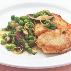 Turkey Cutlets with Peas & Spring Onions - EatingWell.com