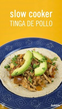 This Slow Cooker Tinga de Pollo is a nutritious and easy dinner recipe that will solve your busy weeknight struggles.