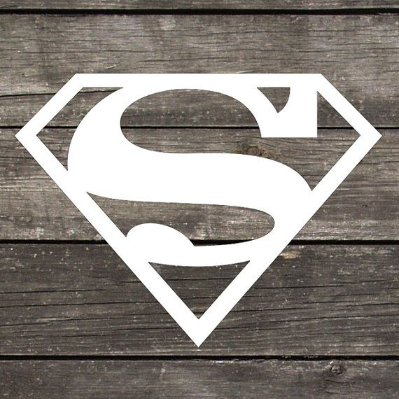 Superman logo premium indoor outdoor vinyl perfect for car windows laptops or any