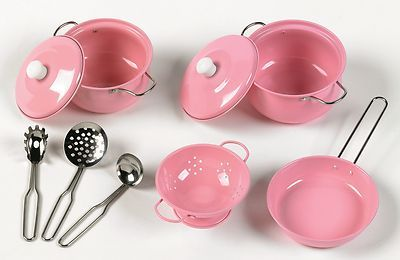 Tidlo Toys Pink Pan Cookware Set Perfect for Kids Play Kitchens Pretend Play | eBay