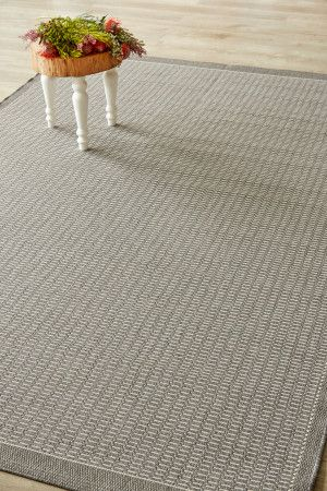 Grey Super Natural (1.8 X 2.8): Water-resistant, durable poly-propylene woven flatweave (1.8 X 2.8 m). Add textu...
