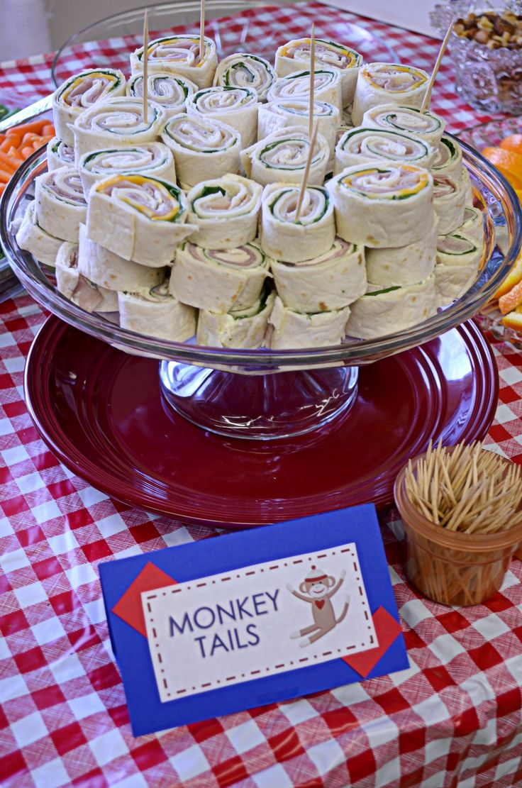 Monkey Tails from our sock monkey baby shower (more pics in blog post)