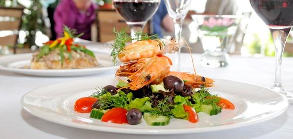 Prawn Salad. Lemongrass #seaside restaurant #plett