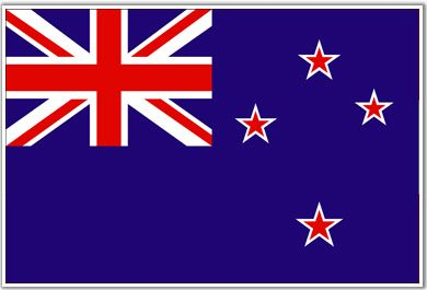 Flag of New Zealand, a former British colony and a standing member of the commonwealth. Home to some of the most entertaining bungee jumping areas in the world. Has close ties to Australia.