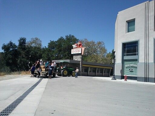 End of the Hayride at Golden Oak Ranch, Newhall, CA