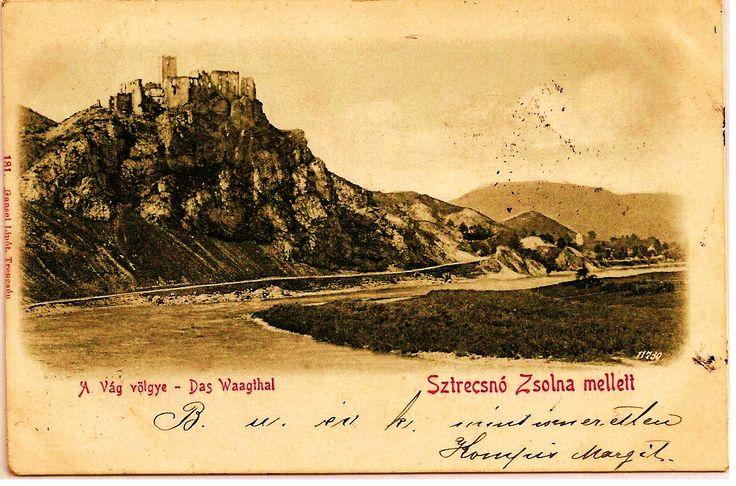 Strecno Castle in 1901