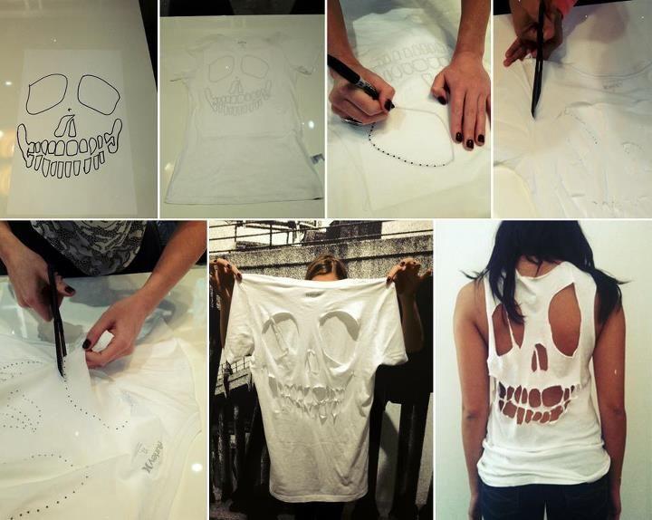 DIY skull shirt: