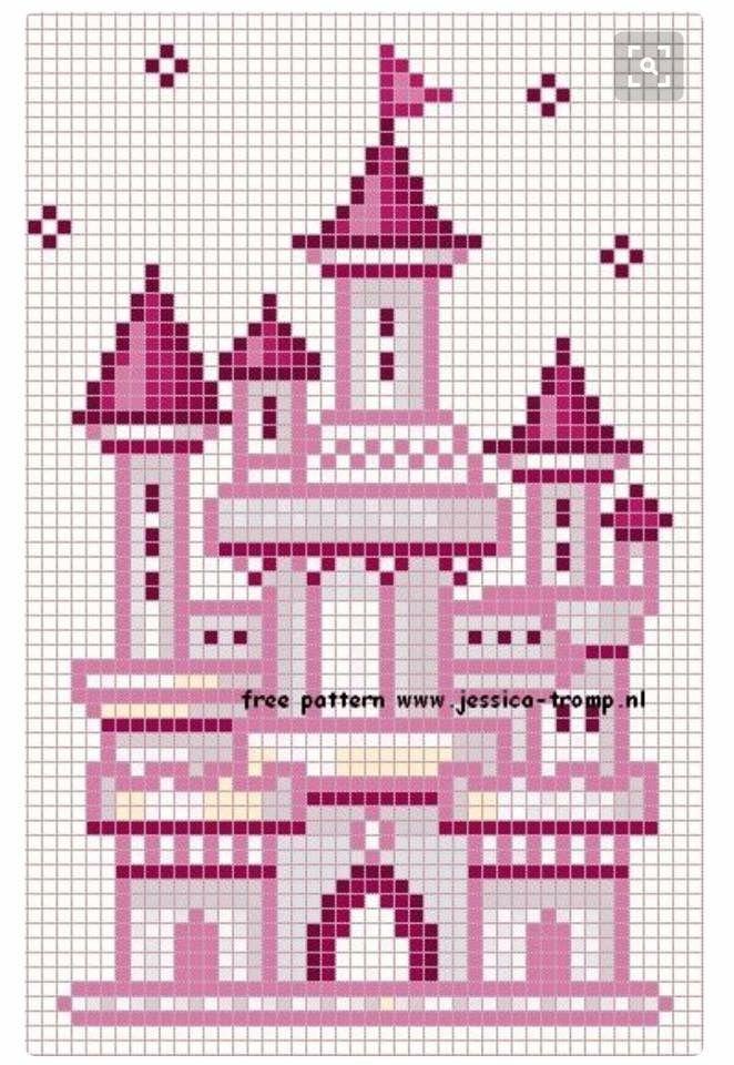 Castle cross stitch.