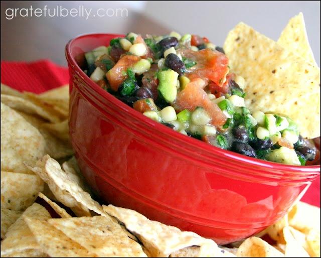 Yummy Black Bean, Corn, and Avocado Salsa!