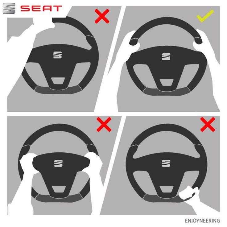 La forma correcta de tomar el volante. #Autos #SEAT