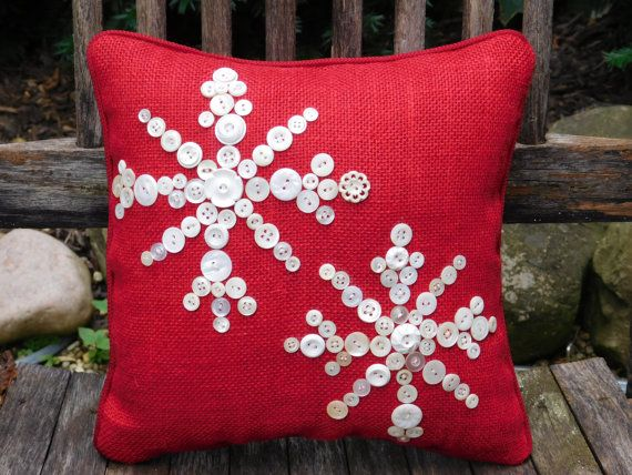 Hey, I found this really awesome Etsy listing at https://www.etsy.com/listing/245135932/snowflake-pillow-holiday-decor-red