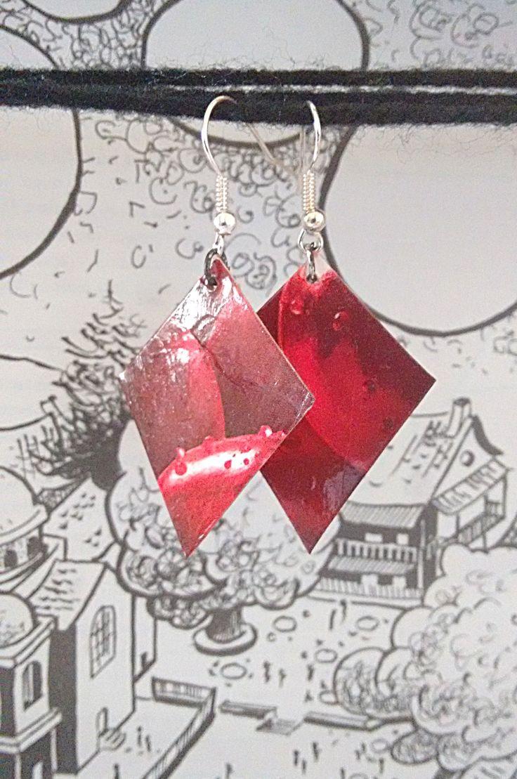 Σκουλαρίκια από χαρτί / Paper earrings