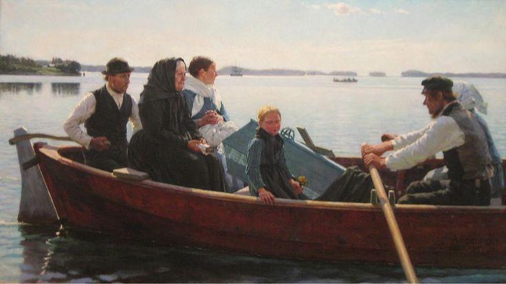 Lapsen ruumissaatto Albert Edelfelt Convoi dun enfant - Suomen taiteen kultakausi – Wikipedia