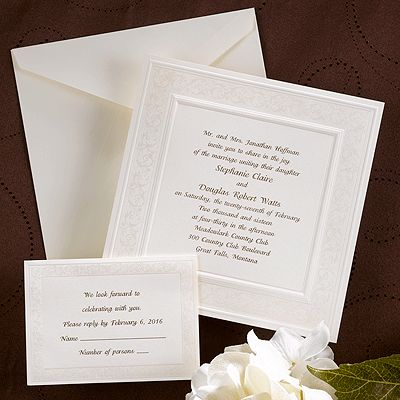 30 best Square Wedding Invitations images on Pinterest Square - invitation wording for candle party